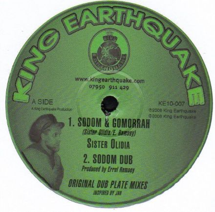 Sister Olidia - Sodom & Gomorrah / Dub / Follow Fashion / Dub (King Earthquake) 10